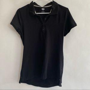 Women's black polo shirt size medium